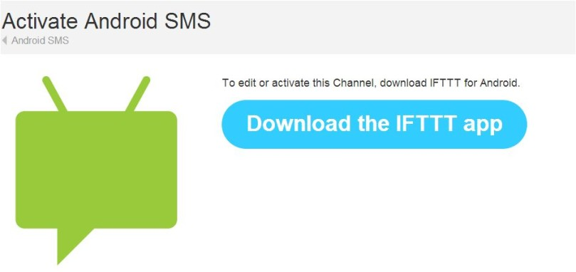 a picture of the ifttt android channel