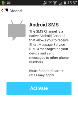 IFTTT Activate the Channel
