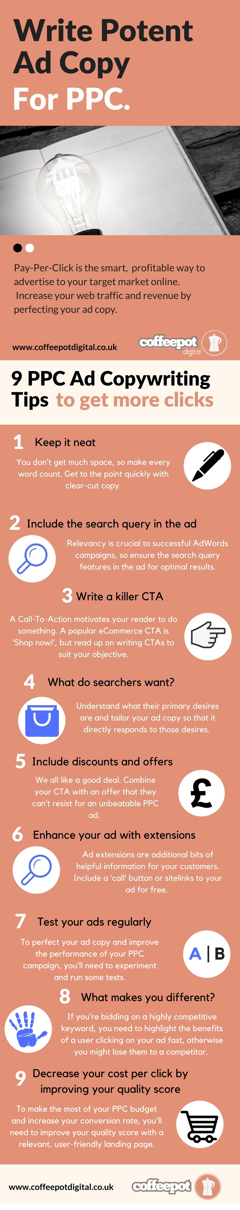 PPC services ad copy infographic