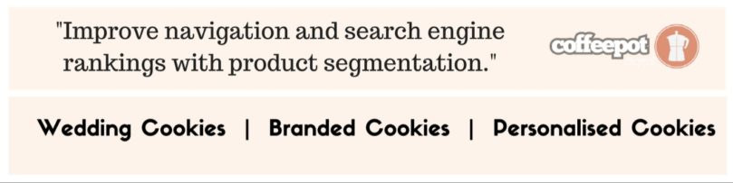 Product segmentation improves SEO